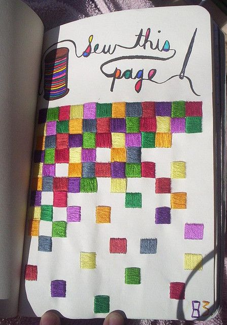 Wreck this journal sew this page