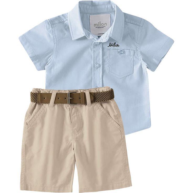 Conjunto Infantil Masculino De Camisa E Bermuda C 225 Qui