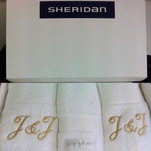 Luxury Egyptian Towel Gift Set with Embroidery