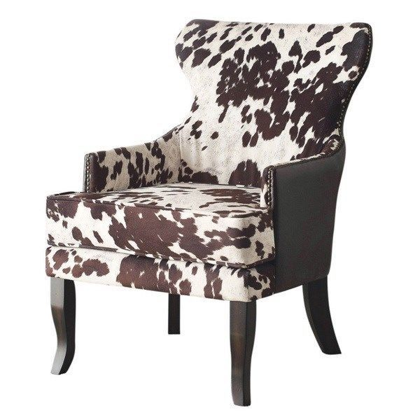 Best Rustic Classic Modern Faux Leather Cow Animal Print Accent 400 x 300