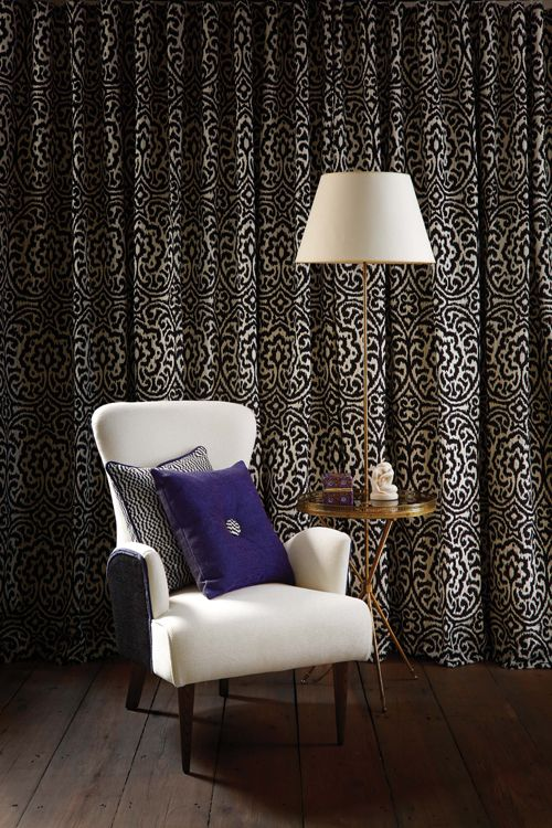 Chandor Mando fabric - Lorca at @osbornelittle - available from Rodgers of York #curtains #fabric