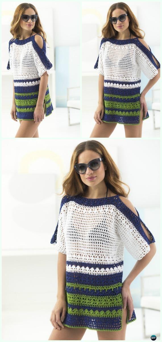 Crochet Beach Cover Up Free Patterns Women Summer Top Crochet Tops Free Patterns Crochet Summer Tops Sweater Crochet Pattern