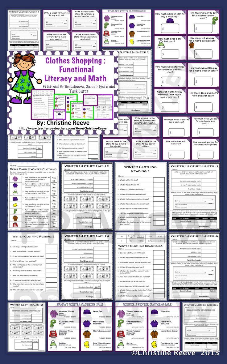 Workbooks life skills for teens worksheets : 85 best Secondary Life Skills - Functional Academics images on ...