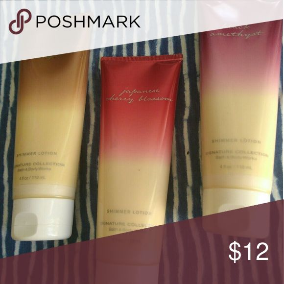 I just added this listing on Poshmark: Bath and Body Works set of 3 shimmer lotion. #shopmycloset #poshmark #fashion #shopping #style #forsale #bath and body works #Other