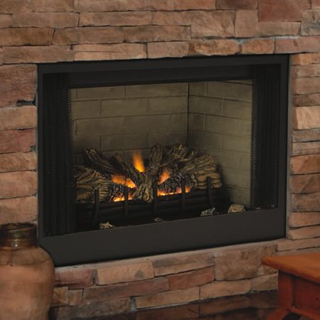 "Vent Free Gas Fireplace Insert | SBV B-Vent Fireplace - 36"" Natural Gas 