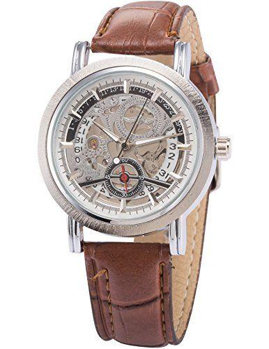 AMPM24 Skelett Elegante Klassisch mechanische Automatik Herrenuhr Armbanduhr Uhr PMW083 - http://on-line-kaufen.de/ampm24/ampm24-skelett-elegante-klassisch-mechanische-2
