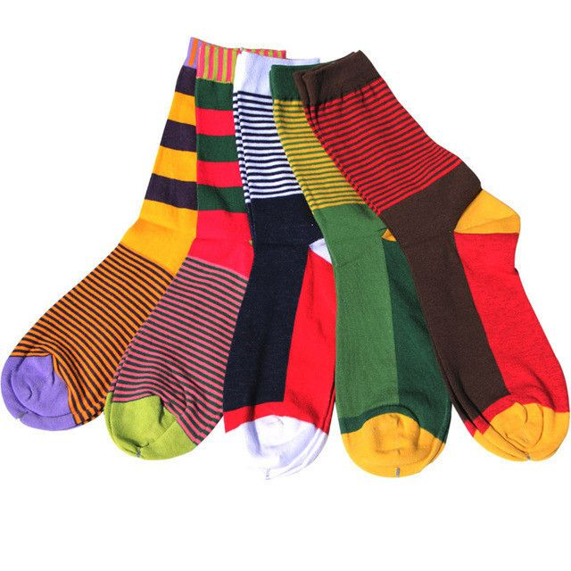 Match-Up combed cotton brand men socks,colorful dress socks (5 pairs / lot ) no gift box