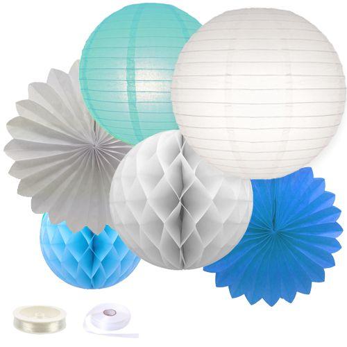 Fiësta decoratie pakket blauw