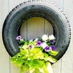 Redneck Wedding Ideas Tire Flower