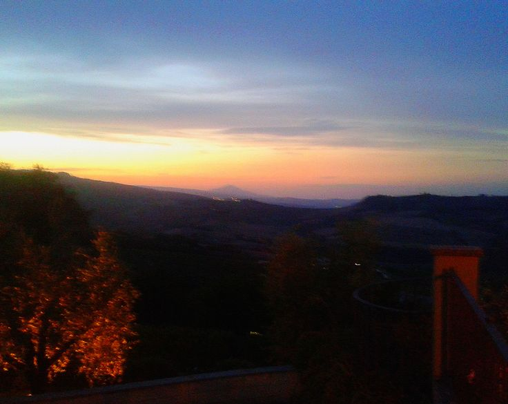 Sunset over  Monte Cetona, view from the Reception