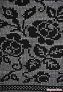 Черные розы. Туника крючком 4