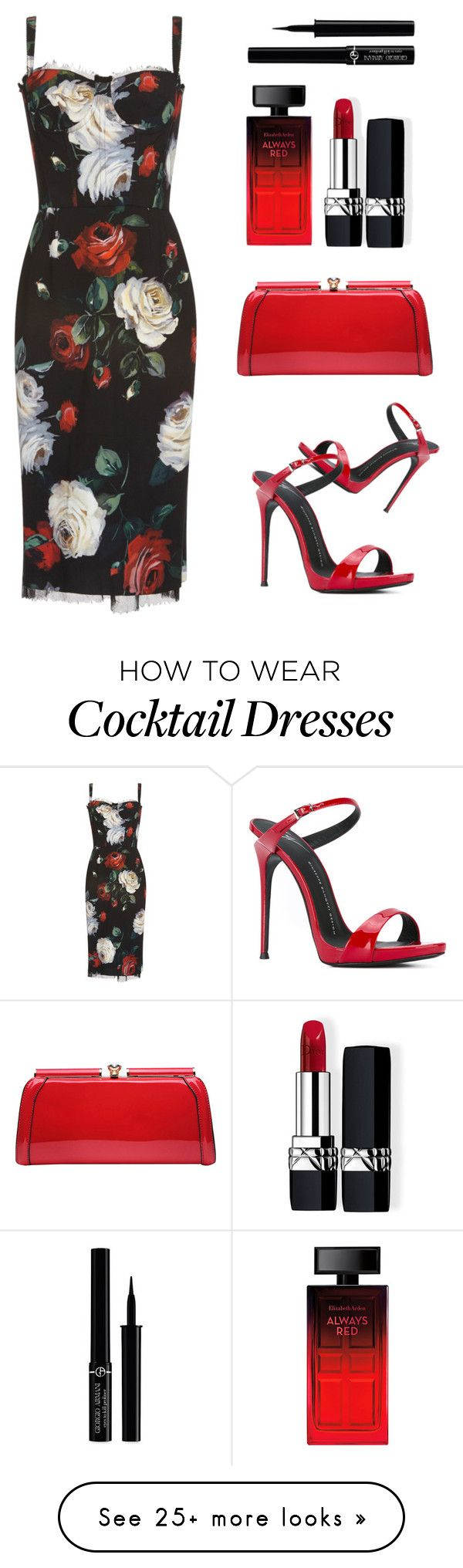 """""""Untitled #294"""" by catrina-lang on Polyvore featuring Dolce&Gabbana, Giuseppe Zanotti, MKF Collection, Elizabeth Arden, Christian Dior and Giorgio Armani"""
