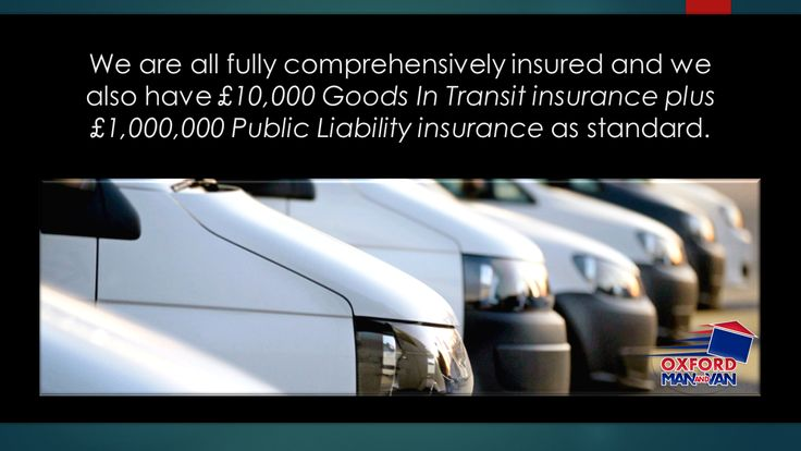 Oxford Man and Van Removals Company Oxfordshire, Fully Comprehensively insured Van fleet