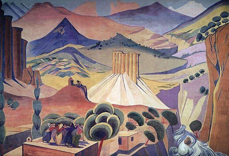 1923 Занавес Государственного драматического театра Армении. Ереван - Сарьян Мартирос Сергеевич