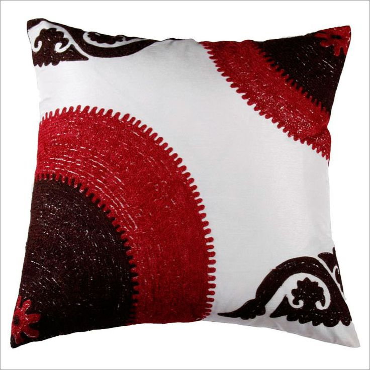 rizzy home t3424 burgundy and black decorative pillow set of 2