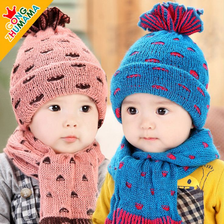 >> Click to Buy << Winter Kids Hats Boys Girl Newborns Photography Accessories Warm Hat Knitted Baby Hat Patterns Free Baby Beanie Head Cap+scarf #Affiliate