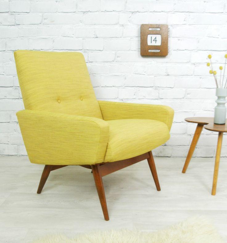 vintage retro teak mid century danish style armchair chair 50s 60s