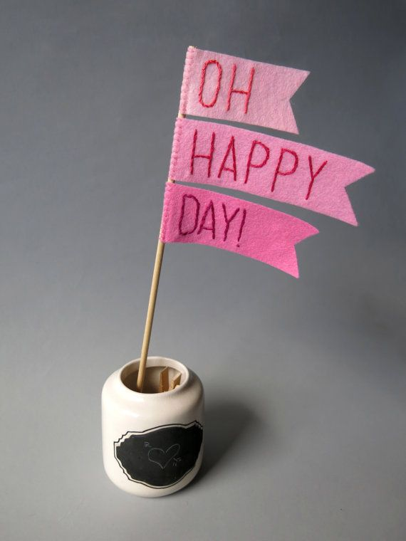 Ombre Pink Cake Topper - Oh Happy Day