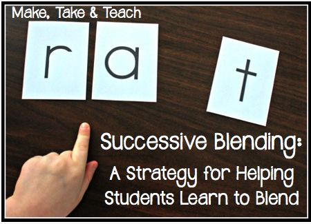 Successive Blending- A Strategy for Helping Students Learn to Blend Sounds into Words