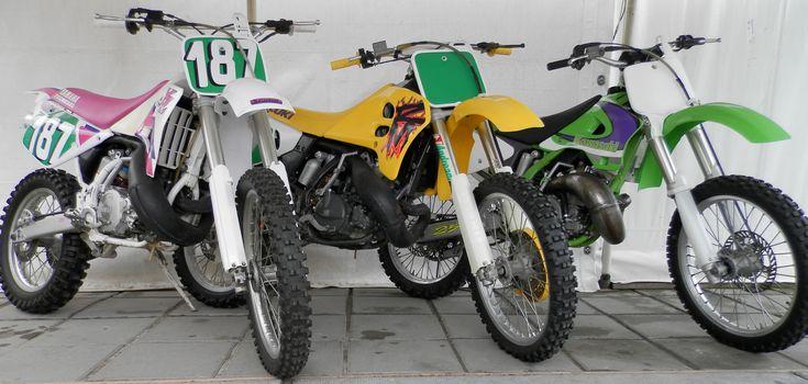 Yamaha YZ 250, 1991 Suzuki RM 250, 1994 Kawasaki KX 250, 1998