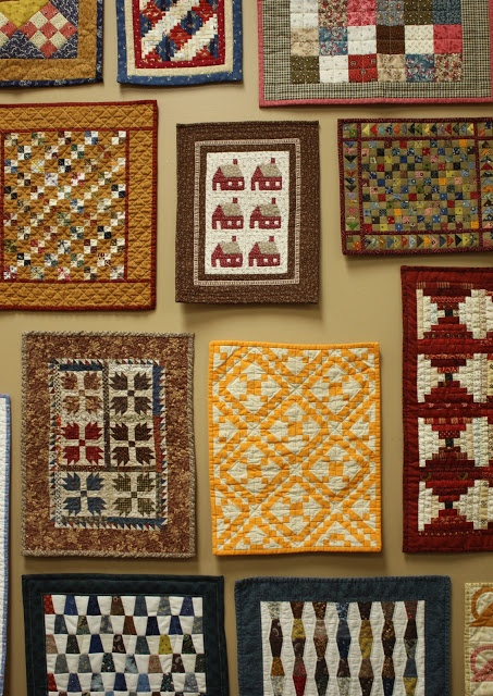 Temecula Quilt Co Wall of quilts....great idea!