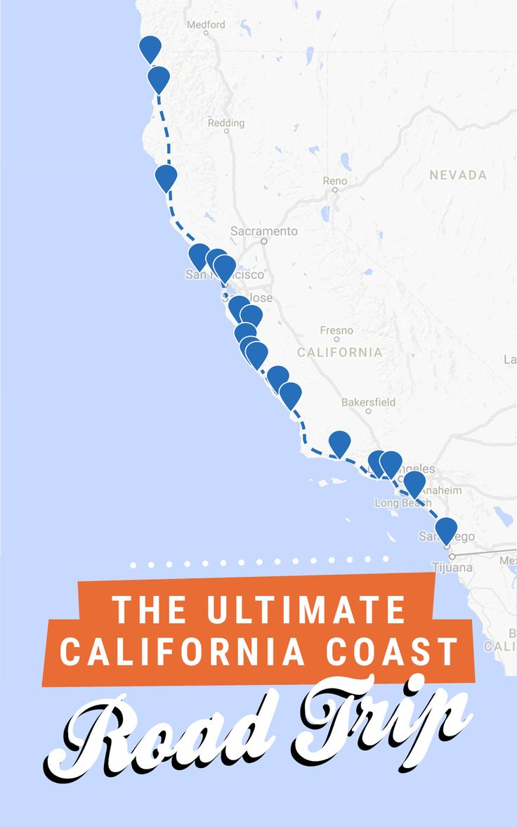 The ultimate California coast road trip, all the way from Crescent City in the north to San Diego in the south! Get the full itinerary over at Road Trippin' The States. RePinned by : www.powercouplelife.com