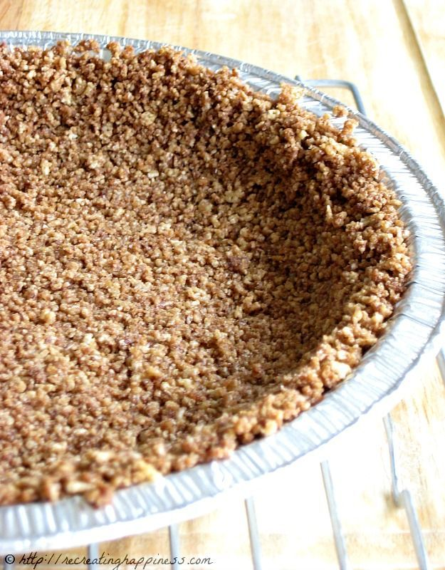 Use cereal for Gluten Free pie crust instead of graham crackers or cookies!  This crust uses Chocolate Chex  #piecrust #GF