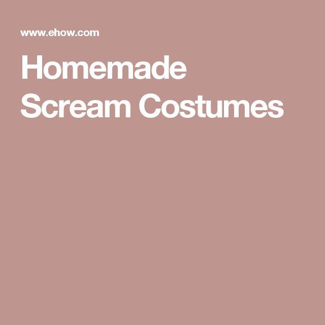 Homemade Scream Costumes