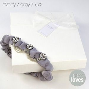 Evony Grey Bridal Garter