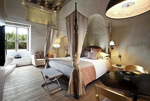 What a beautiful hotel room! At Sofitel Cartagena Santa Clara.