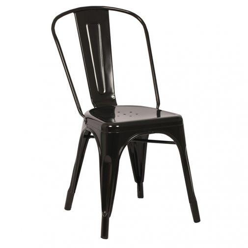 Läcker industriell stol i pulverlackat järn. Stapelbar....