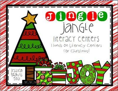 Jingle Jangle Literacy Centers Mini-Collection of Centers from Wild About Firsties on TeachersNotebook.com -  (25 pages)  - Fun-Filled holiday fun with a 4-pack of literacy centers!
