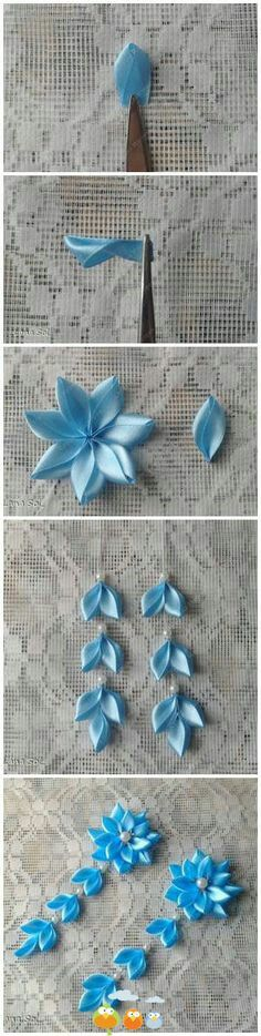 Blue flower with falls