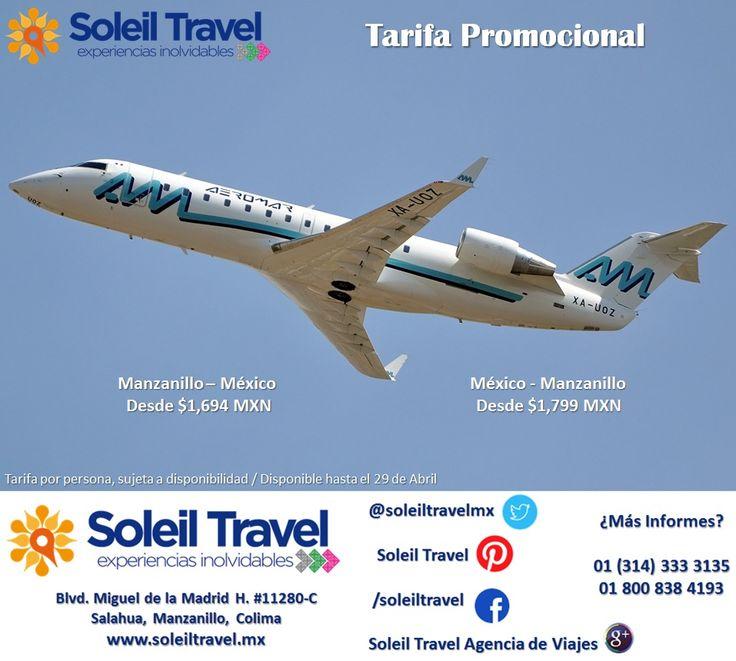 Aprovecha estas tarifas y viaja a México y/o Manzanillo