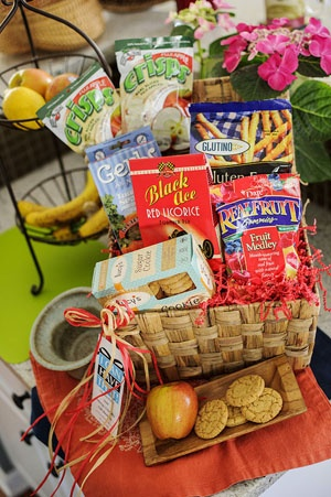 Best 25 gluten free gift baskets ideas on pinterest gluten free new gluten free gift basket a stash of snacks negle Image collections