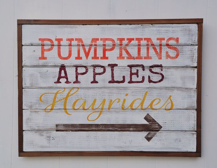 Custom Fall Decor Sign, Wood Plank Wall Art, Pumpkins, Hayrides, Fall Decorations, Thanksgiving Rustic Wood Sign, Shabby Chic Decor by wavynavy on Etsy https://www.etsy.com/listing/250011854/custom-fall-decor-sign-wood-plank-wall
