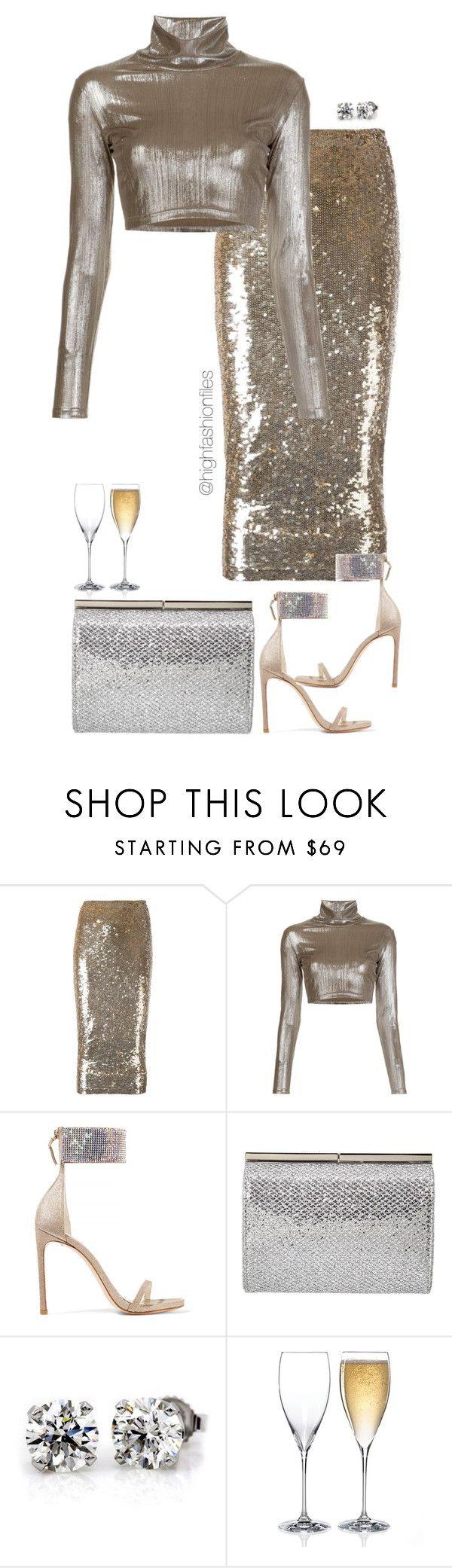 """""""Untitled #2662"""" by highfashionfiles ❤ liked on Polyvore featuring P.A.R.O.S.H., Alexander Lewis, Stuart Weitzman, Jimmy Choo and Riedel"""