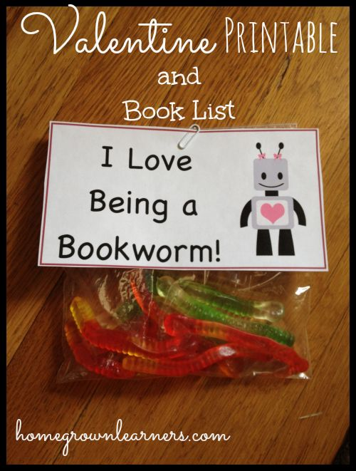 What a fun treat for reading time on Valentine's Day!!! Be a Valentine Bookworm - Free Download