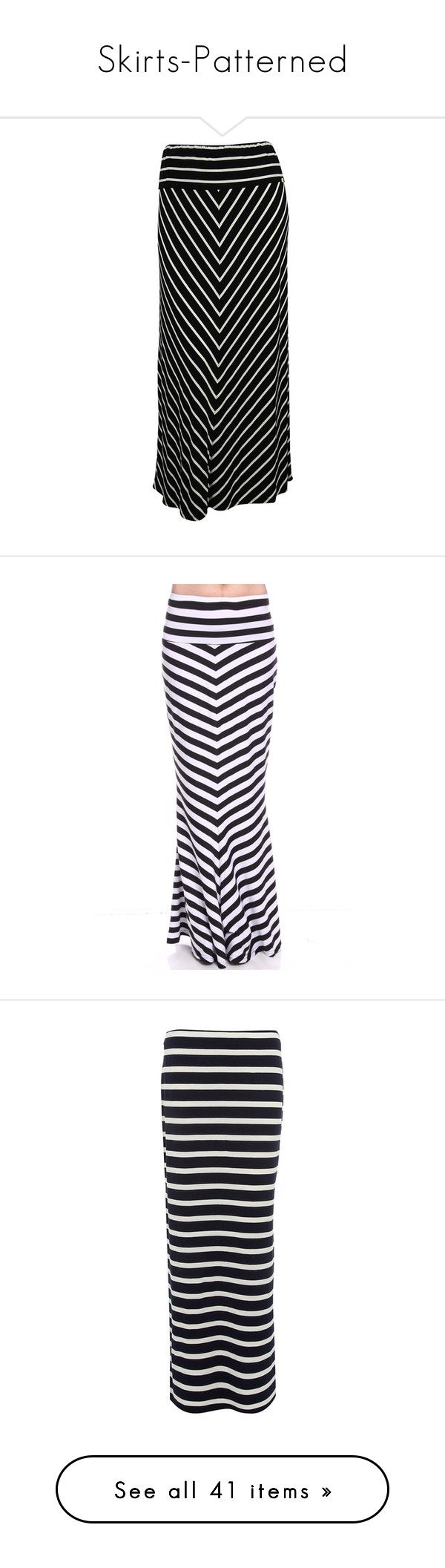 """Skirts-Patterned"" by jensmith1228 ❤ liked on Polyvore featuring skirts, plus size, striped maxi skirt, long skirts, stripe long skirt, plus size striped skirt, long striped skirt, maxi skirt, black and white skirt and black white maxi skirt"