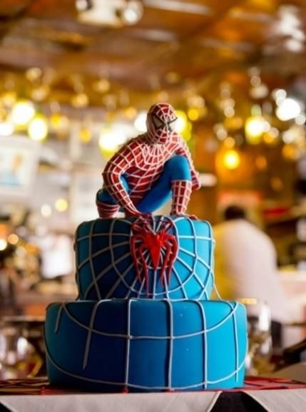 blue spiderman