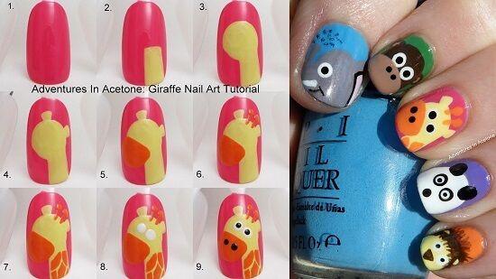 Uñas de jirafa paso a paso | Decoración de Uñas - Nail Art - Uñas decoradas