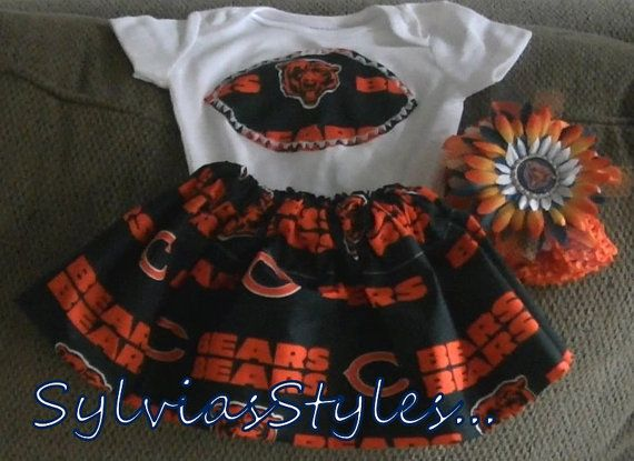Chicago Bears Football dress set and you pick the by sylviasstyles, $26.99
