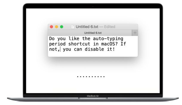 How To Stop Typing Periods Automatically With Double Space On Macos Double Space Type Words
