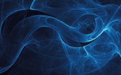 Scarica sfondi fumo, sfondo blu, texture