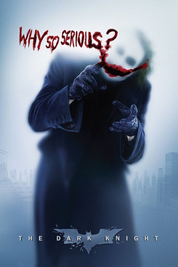 Batman Joker Why So Serious Poster                                                                                                                                                                                 Más
