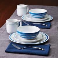 Rachael Ray Brushstrokes Stoneware Dinnerware Set
