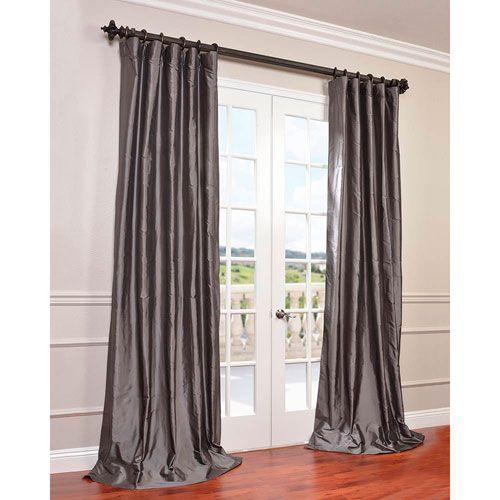Half price drapes yarn dyed orange 50 x 120 inch dupioni for 120 inch window treatments