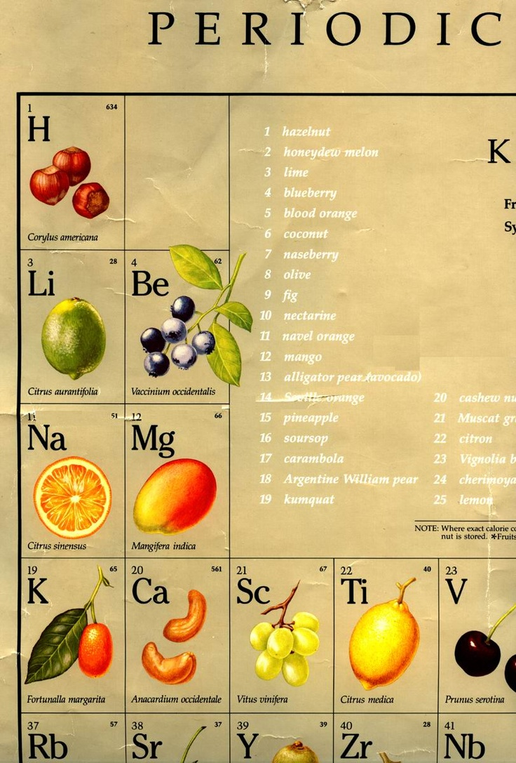 15 best fruits and vegetables images on pinterest fruit bowls periodic table of fruits urtaz Image collections