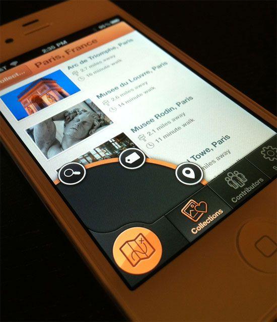 iPhone Search Type Nav Mobile UI Design Inspiration