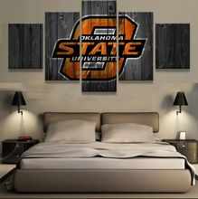 5 Pieces Oklahoma State Cowboys Sports Modern Home Wall Decor Canvas Picture Art HD Print Painting On Canvas For Living Room(China (Mainland))